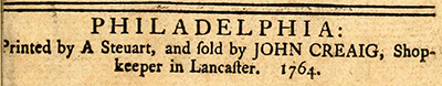 From the title page of The conduct of the Paxton-men, 1764. Image from Archive.org.