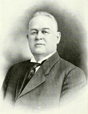Portrait of Henry Leonidas Stevens [Sr.], from R. D. W. Connor's <i>History of North Carolina: North Carolina Biography</i>, Vol. IV, p. 376, published 1919, The Lewis Publishing Company, Chicago.  Henry Leonidas Stevens was the father of Henry Leonidas Stevens, Jr., and an attorney and public official in Kenansville, North Carolina.