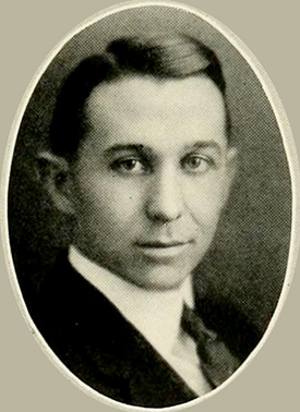 A photograph of Richard Gordon Stockton from the 1922 University of North Carolina yearbook. Image from the University of North Carolina at Chapel Hill.