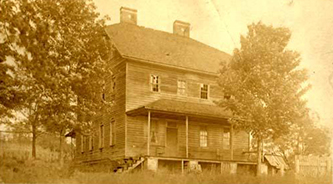 Mourne Rouge, Montfort Stokes' house near Wilkesboro, circa 1907-1929. It was destroyed by fire in 1971.