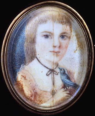A miniature portrait of Samuel Swann's daughter, Jane Swann Jones, circa 1750. Image from the North Carolina Museum of History.