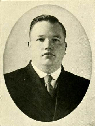 Senior portrait of John Skally Terry, from the University of North Carolina 1918 yearbook <i>The Yackety Yack</i>, Vol. XVIII, p. 61, published 1918 by the Literary Societies and the Fraternities, University of North Carolina, Chapel Hill.  Presented of DigitalNC.