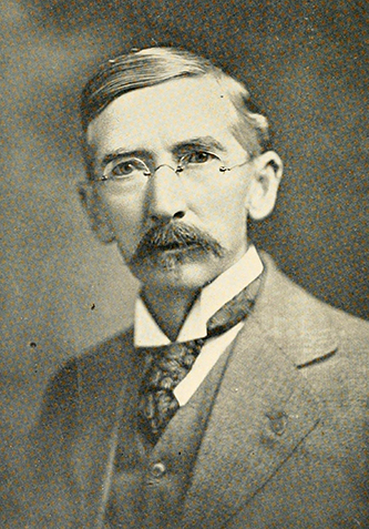 A photograph of Dr. Cyrus Thompson published in 1919. Image from the Internet Archive.