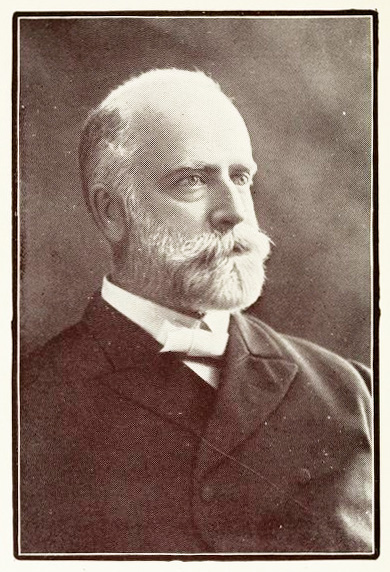 Portrait of R. A. Torrey, from his <i>Anecdotes and Illustrations,</i> published 1907 by Fleming H. Revell Company, New York.  Presented on Archive.org.