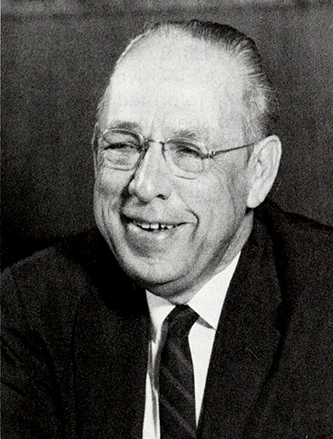 A photograph of Harold Wayland Tribble published in 1986. Image from the Internet Archive.