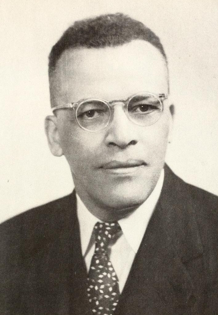 Image of Harold Leonard Trigg, from Saint Augustine's University's The Falcon  Yearbook, [p.10], published 1951 by Saint Augustine's University. Presented on digital nc.