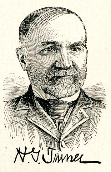 Engraved image of Henry Gray Turner, from White's <i>The National Cyclopaedia of American Biography</i>, Vol. II, published 1893 by James T. White & Company.