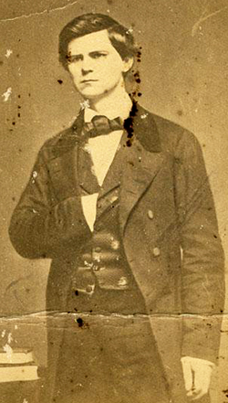 A photograph of the young Zebulon Baird Vance, circa 1840s-1850s. Image from the North Carolina Museum of History.