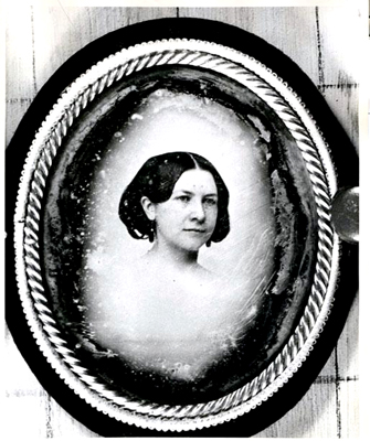 Photograph of a daguerretype of Ann Sellman Inglehart Waddell, wife of James Waddell.  From the collections of the North Carolina Museum of History.