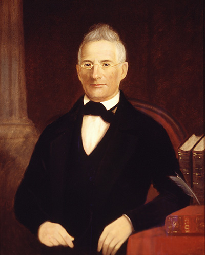 A portrait of Samuel Wait (1789-1867). Image from Wake Forest University.