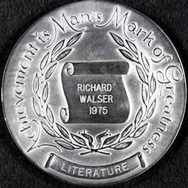 The North Carolina Award for Literature, awarded to Richard Gaither Walser in 1975. Image from the North Carolina Museum of History.