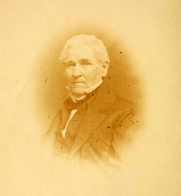Image of John Fanning Watson, circa 1860, from <i>A Memoir of John Fanning Watson, The Annalist of Philadelphia and New York,</i> by Benjamin Dorr, published 1861.  Presented by Archive.org.