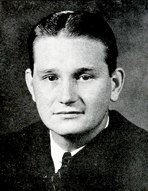 A photograph of John Rushing Welsh III from the 1939 University of the South yearbook. Image from the Internet Archive.
