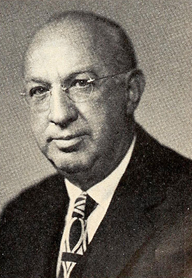 A photograph of John Clarke Whitaker published in 1951. Image from the Internet Archive.