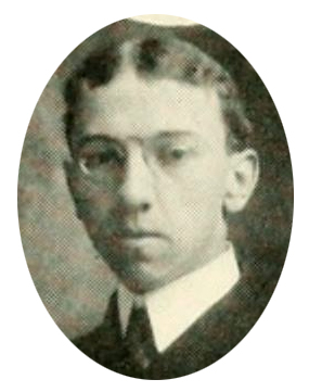 Senior portrait of William Asbury Whitaker from the University of North Carolina yearbook <i>The Yackety Yack</i>, 1904, p. 27.  Presented on DigitalNC.
