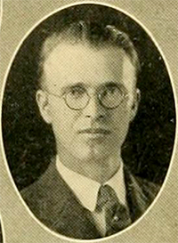 A photograph of Newman Ivey White from the 1925 Duke University yearbook. Image from the - White_Newman_Ivey_UNCCH_chanticleerseria1925duke_0034