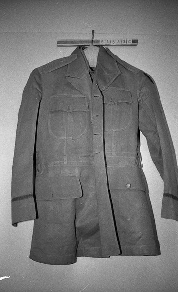 Military uniform worn by John Elliott Wood.  Associated with his service in the Philippine Islands from 1934 to 1936.  Item H.1985.53.3, from the North Carolina Museum of History.