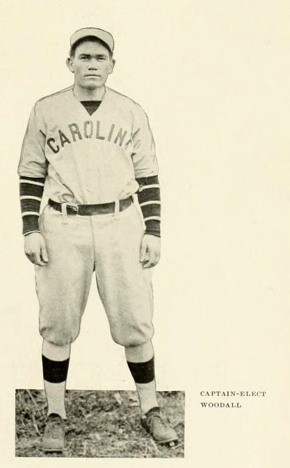 Photograph of Woodall, from the 1915 University of North Carolina yearbook <i>The Yackety Yack</i>.  Presented on DigitalNC.