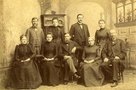 Photograph of the first faculty of Guilford College, Greensboro, NC, 1888.  From Friends Historical Collection Archives, Guilford College's Flickr Photostream.