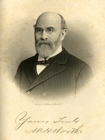 Portrait of William Henry Worth, from Samuel A. Ashe's <i>Biographical History of North Carolina</i> Vol. 3, published 1906.
