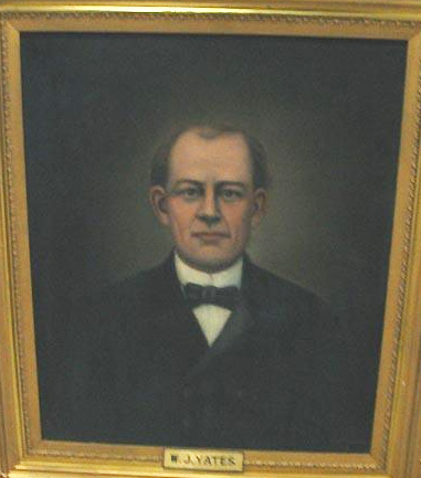 Oil portrait of William J. Yates by Mary Lyde Hicks Williams, 1915.  Item H.1916.60.1  from the collections of the North Carolina Museum of History.