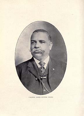 Portrait of James Hunter Young, ca. 1919, from the <i>National Cyclopedia of the Colored Race</i>, published 1919.