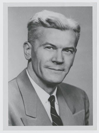 Photograph of Dr. Richard Young, circa 1960.  Used by permission from the Coy C. Carpenter Library, Wake Forest School of Medicine. In DigitalForsyth.org.