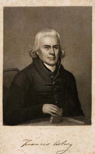 Portrait from The pioneer bishop: or, The life and times of Francis Asbury ([1858]). The Internet Archive.
