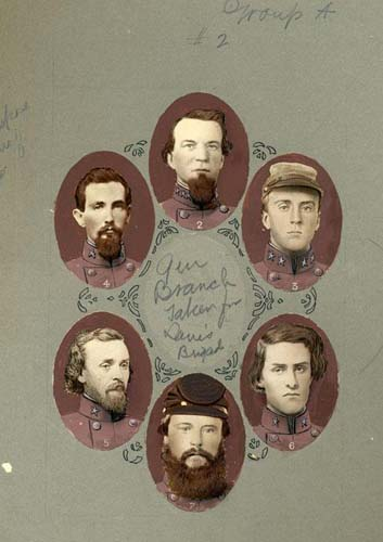Officers of the 33rd Regiment. Image courtesy of the NC Museum of History.