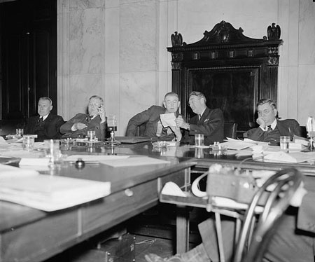 Congressional TVA Committee. Washington, D.C., Nov. 23, 1938. Barden is far left.