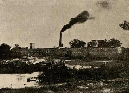 """The Rocky Mount Mills,"" photograph, [circa 1911]. From <i>Rocky Mount the Gateway of Eastern North Carolina</i>, p. 32, [published 1911] by the <i>Rocky Mount Record</i>, Rocky Mount, N.C. From the Braswell Memorial Library, presented on Archive.org."