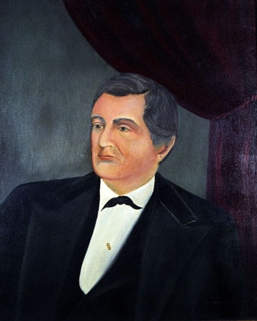 Official gubernatorial portrait of Elisha Baxter, tenth governor of Arkansas (1873–1874). Courtesy of the Arkansas Secretary of State's Office and the Old State House Museum via the Encyclopedia of Arkansas History & Culture.