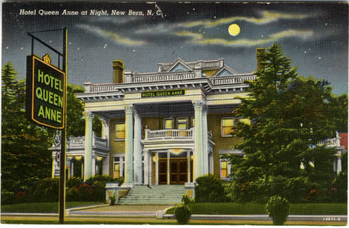 James Blades built this home in New Bern that would become the Queen Anne Hotel. Image courtesy of UNC Libraries.