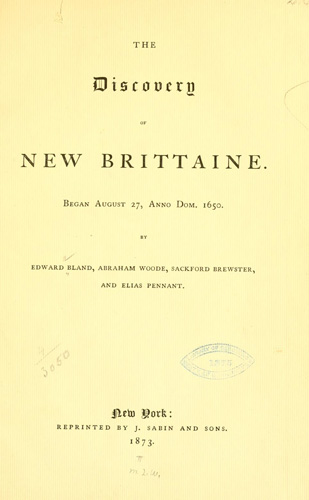 """The discovery of New Brittaine"" by Edward Bland. Image courtesy of the Internet Archive."