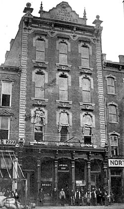 Historic view of the Briggs Hardware Building Photo courtesy of the North Carolina Division of Archives and History. Courtesy of the National Park Service.
