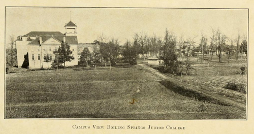 Greater Boiling Springs Junior College. Courtesy of college yearbook.