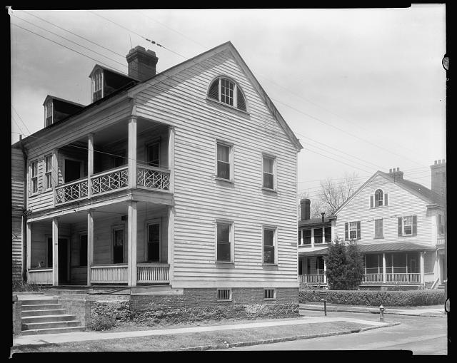 James Coor House, New Bern, Craven County, North Carolina. Image courtesy of the Library of Congress.
