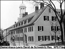 Lewis David von Schweinitz house in Bethleham, PA. Courtesy of the National Historic Landmarks Program.