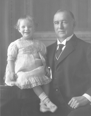 James Buchanan Duke with daughter Doris. Image courtesy of Duke Farms.