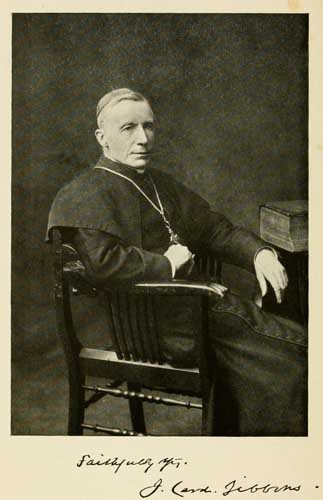 "Cardinal James Gibbons. Courtesy of the ""Life of James, cardinal Gibbons."""