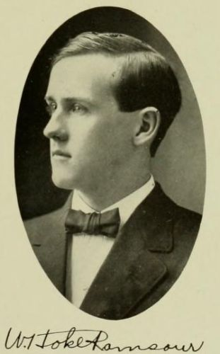 William Hoke Ramsaur's picture from the 1910 UNC Chapel Hill yearbook, Yackety Yack.