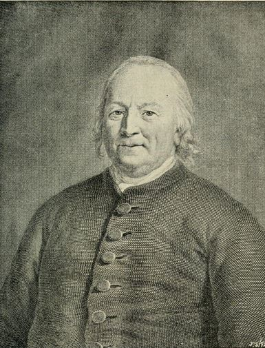 "Augustus Gottlieb Spangenberg. Image courtesy of ""History of Wachovia in North Carolina; the Unitas fratrum or Moravian church in North Carolina during a century and a half, 1752-1902."""