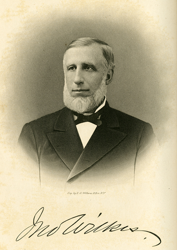 Engraved portrait of John Wilkes.  From Samuel A. Ashe's <i>Biographical History of North Carolina</i>, Volume V,  published 1906 by Charles L. Van Noppen, Publisher, Greensboro, N.C.   From the collections of the Government & Heritage Library, State Library of North Carolina.