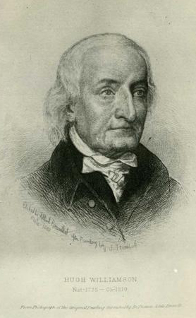 Hugh Williamson,  drawn by Albert Rosenthal from a painting by John Trumbull.