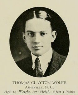 "Wolfe, Thomas. 1920. ""Yackety Yack."" UNC-CH Student Yearbook. Online at DigitalNC."