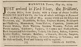 Virginia Gazette, May 19, 1774. Click to see larger view.  Courtesy of The Colonial Williamsburg Foundation. Available online from the Smithsonian Institute.