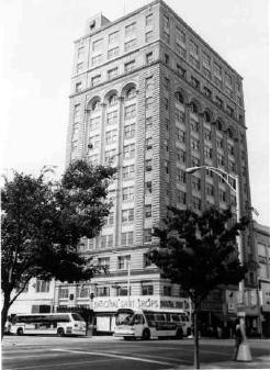 Independence Building, Charlotte, NC, 1977. Image courtesy of the Charlotte-Mecklenburg Historic Landmarks Commission.