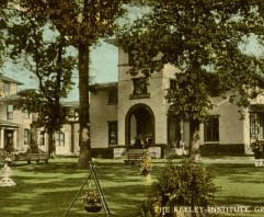 The Keeley Institute Postcard, Greensboro, N.C. Image courtesy of North Carolina Postcard Collection, UNC Libraries.