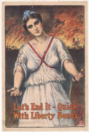 "Ingres, Maurice. 1917. ""Let's end it quick with Liberty Bonds."" Central Litho. Co., State Archives of North Carolina. Call no. MilColl.WWI.Posters.9.22."