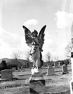 "Tom Wolfe's Angel ""Look Homeward Angel"" Asheville, NC, Buncombe County, 1949. From North Carolina Conservation and Development, Travel and Tourism photo files, North Carolina State Archives, call #: ConDev8200A."